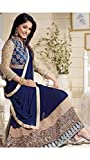 Shiv Shakti Men Georgette Dress material (_Blue)