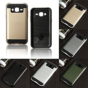 Two-in-one Brushed Armor TPU+PC Protective Case Cover Skin For Samsung Galaxy J5**