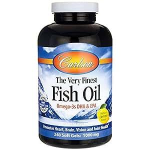 Carlson labs very finest fish oil lemon for Carlson fish oil amazon