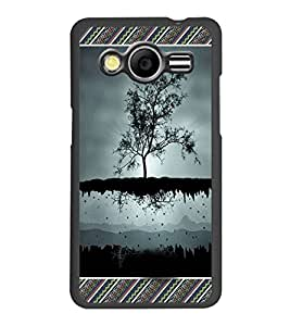 PrintDhaba Flying Tree D-3625 Back Case Cover for SAMSUNG GALAXY CORE 2 G355H (Multi-Coloured)