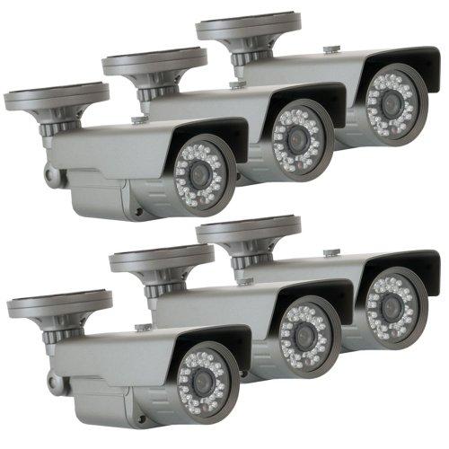 "Gw 6 X 1/3"" Cmos Outdoor Security Camera, 650 Tv Lines, 3.6Mm Lens, 30 Ir Leds, 82 Ft Ir Distance. Low Illumination 0.1 Lux. Metal Vandal Proof & Water Proof"