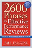 img - for 2600 Phrases for Effective Performance Reviews: Ready-to-Use Words and Phrases That Really Get Results [Paperback] [2005] (Author) Paul Falcone book / textbook / text book