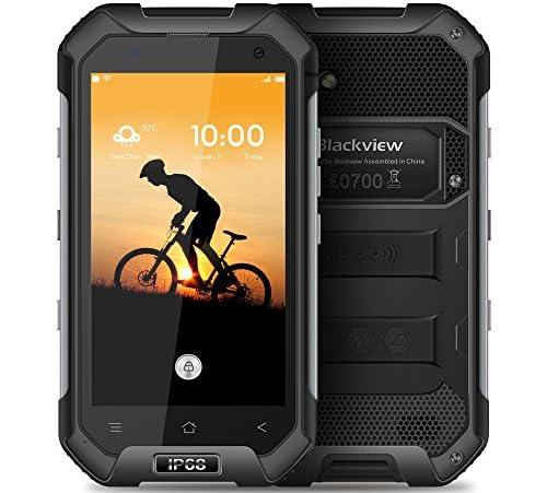 """Blackview BV6000スマートフォン アウトドア IP68防水、防塵、耐衝撃 4.7"""" HD 720*1280 MT6755 オクタコア 2.0GHz 4G FDD-LTE 3GB+32GB 5.0MP+13.0MPカメラ Android 6.0 4500mAh NFC コンパスGPS+ GLONAS"""