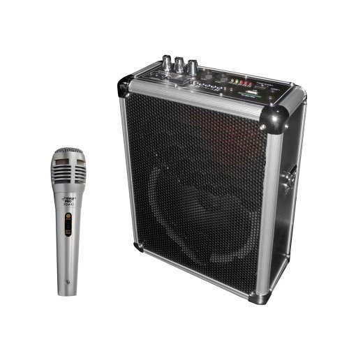 Pyle Mic And Speaker Package - Pwma160 Dual Channel 400 Watt Wireless Pa System W/Usb/Sd,2 Vhf Wireless Microphones (1 Lavalier, 1 Handheld) - Pdmik1 Professional Moving Coil Dynamic Handheld Microphone For Performances, Performers, Singers, Dancers, Tour