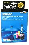 KIT DE RECARGA PARA CARTUCHOS HP301, HP301XL Color. Contenido del Kit de Color 3 botellas de 25ml de tinta específica (Una por color)  La tinta suministrada es suficiente para 12 a 25 rellenados.  Juego de herramientas completo para realizar la recar...