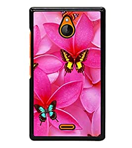 printtech Butterfly Flowers Back Case Cover for Nokia X2 Dual SIM