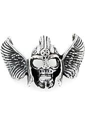 Gothic Sterling Silver Winged Viking Warrior Helmet Skull Thor Pendant, Heavy 21g