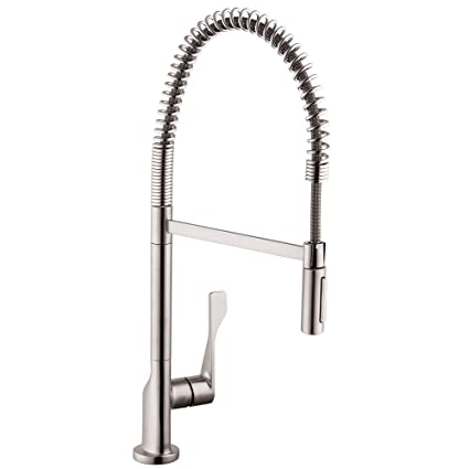 Axor 39840801 Citterio Semi-Pro Kitchen Faucet, Steel Optik