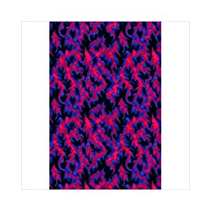 Joy Carpets 442Q Inferno 6 ft. x 9 ft. 100 Pct. Nylon Machine Tufted- Cut Pile Fluorescent Rug