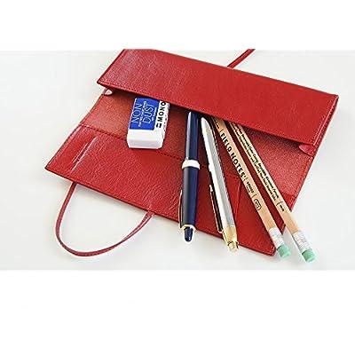 [牛本革] ロールペンケース (ミーリングレザー) Business Leather Factory (ブラックグリーン)