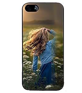 Printvisa Girl Admiring Sunshine Back Case Cover for Apple iPhone 4