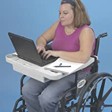 Ableware 706010000 Lap Top Wheelchair Desk