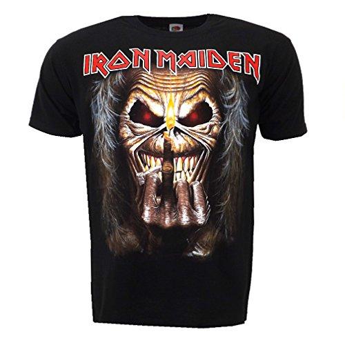 Iron Maiden Eddie Candle Finger Maglietta Ufficiale Autorizzato