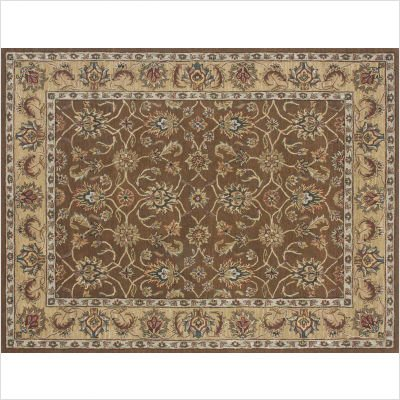 Loloi Maple MP-30 Wool 7-Feet 9-Inch by 9-Feet 9-Inch Area Rug, Brown/Gold