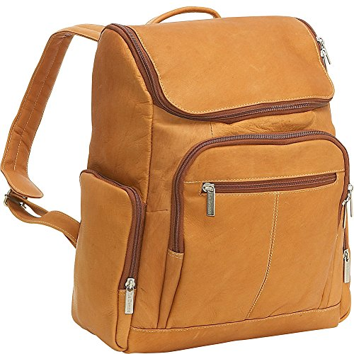 le-donne-leather-ld-4020-tan-laptop-backpack