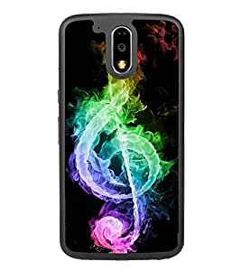 Colourful Music Sign 2D Hard Polycarbonate Designer Back Case Cover for Motorola Moto G4 Plus :: Moto G4+