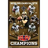 (22x34) New Orleans Saints (Super Bowl XLIV Champions) Sports Poster Print