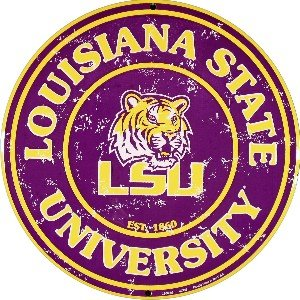 LSU Tigers 12 Inch Embossed Metal Nostalgia Circular Sign at Amazon.com