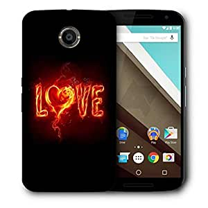 Snoogg Fury Love Printed Protective Phone Back Case Cover For LG Google Nexus 6