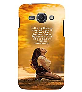 Fuson 3D Printed Quotes Designer back case cover for Samsung Galaxy Ace 3 - D4258