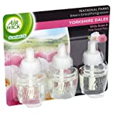 Airwick Triple Electrical Refill Yorkshire Dale White Rose Pink and Pink Sweet Pea 17 ml (Pack of Five, Total 15 Refills)