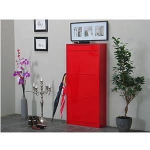 schuhschrank chess schuhkipper schuhregal flur dielen schrank rot hochglanz garten. Black Bedroom Furniture Sets. Home Design Ideas
