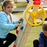 HappyPie 11.8 Dia Steering Wheels Toy Playground Small Cabin Accessories (Yellow)