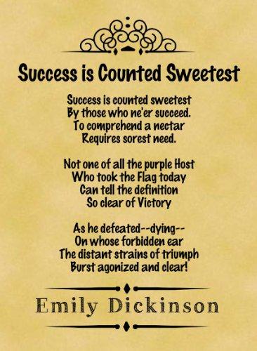 A4 Size Parchment Poster Classic Poem Emily Dickinson Success