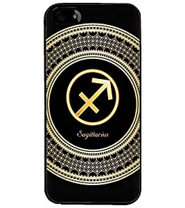 PrintDhaba Zodiac Sagittarius D-2598 Back Case Cover for APPLE IPHONE 5S (Multi-Coloured)