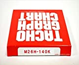 小芝記録紙 ( KOSHIBA ) チャート紙 S-7 【1日用】 140Km/h(26時間) 100枚入リ KM-26-140