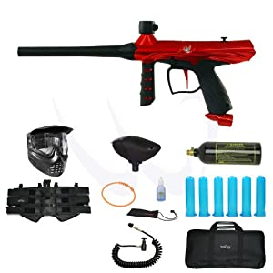 Buy Tippmann Gryphon Red Paintball Marker Gun Elite Package by Tippmann