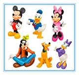 6 Pcs Mickey & Minnie Disney Character Display Figures Kid Toy Cake Topper Decor