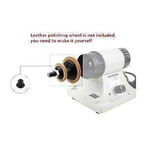 Leather Polishing Burnishing Machine Leather Edge Grinding Machine 110V 0-8000RPM with Flexible Shaft Handle (Color: with Flexible Shaft Handle)