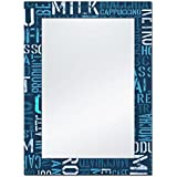 The Attic Milford Mirror Frame (Glossy Finish, Brown)