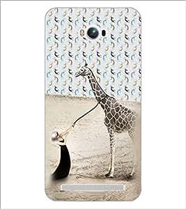 PrintDhaba Giraffe D-4944 Back Case Cover for ASUS ZENFONE MAX ZC550KL (Multi-Coloured)