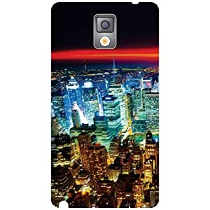 Samsung Galaxy Note 3 N9000-City Life Matte Finish Phone Cover