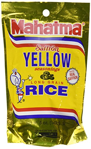 Mahatma Saffron Yellow Rice and Seasonings 5 Oz. (6 Packs)