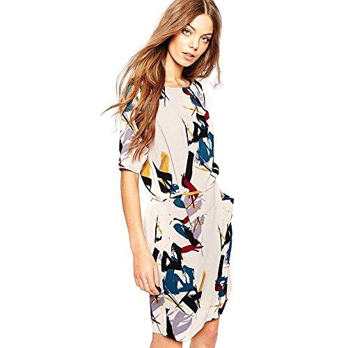 foru-harper-printing-slim-waist-chiffon-womens-summer-dress