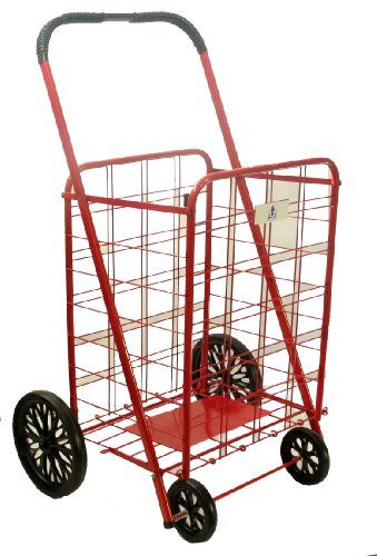 51lvsuB g2L Trimmer Further Large Shopping Cart, Red