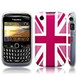 Blackberry Curve 8520 'Cool Britannia Pink' (Designed by Creative Eleven) TPU Gel Skin / Case / Cover Part Of The Qubits Accessories Rangeby Qubits