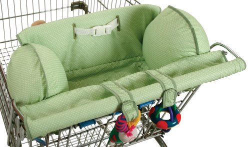 Best Prices! Leachco Prop 'R Shopper - Shopping Cart Cover - Sage Pin Dot