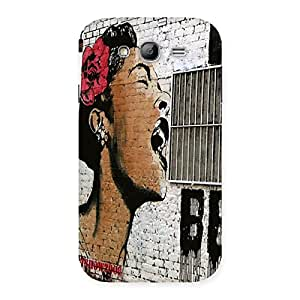 Impressive Girl Singing Wall Back Case Cover for Galaxy Grand Neo