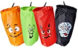 """4 Large 18"""" Halloween Trick or Treat Bags for Children to Stuff Their Party Favors, Goodie Bags, Candy, Prizes, Toys, Candies, Treats, Toy Assortment"""
