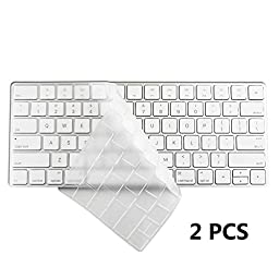 COOSKIN®2pcs Magic Keyboard Protector Skin Cover for Apple 2015 New Wireless Keyboard US version Ultra Thin Clear Soft TPU Type