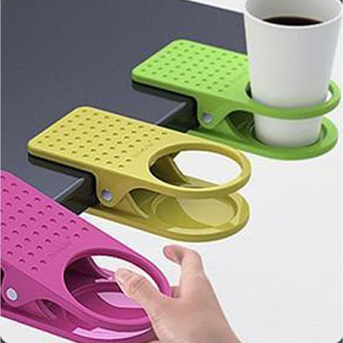 Desk Cup Holder Drink Clip Lap Table Folder Reading Creative Design Table Manager 1 Pc