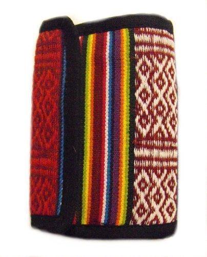 Rainbow Portafoglio - Fatto a mano in Nepal - Alla moda, Colorato & Commercio Equo Solidale - 100% cotone
