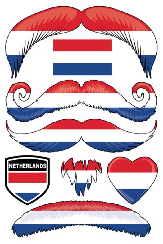 StacheTATS Netherlands Temporary Mustache Tattoos - 1