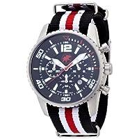 [ハンティングワールド]Hunting world 腕時計 ゼフィロ ブラック リボンベルト 10気圧防水 クォーツ メンズ HW019BK メンズ 【正規輸入品】