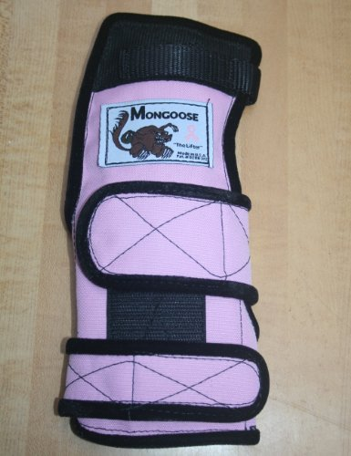 "Mongoose ""Lifter"" Bowling Wrist Support Right Hand, Medium, Pink"
