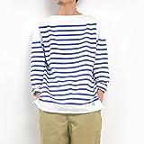 """(オーシバル) ORCIVAL オーチバル """"RACHEL/レイチェル"""" フランス製 パネルボーダー バスクシャツ メンズ 6101 White/Blue サイズ5"""